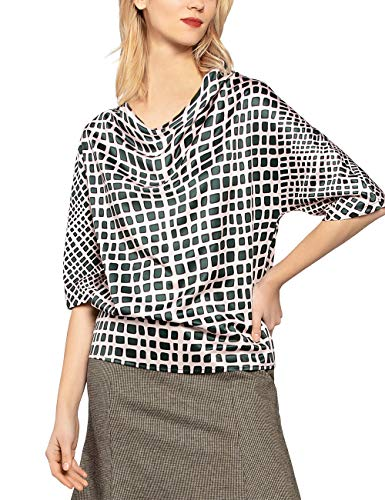APART Fashion dames bloes Printed Satin Blouse