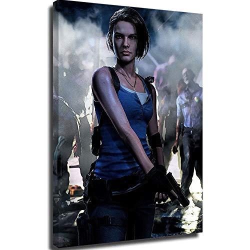 Lienzo enmarcado mural de pared de Resident Evil Extintion T