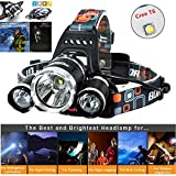 Newest Headlamp Flashlight 10000 Lumen,Best IMPROVED LED with Rechargeable...