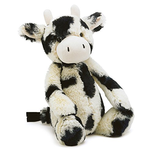Jellycat Bashful Cow Stuffed Animal, Medium, 12 inches