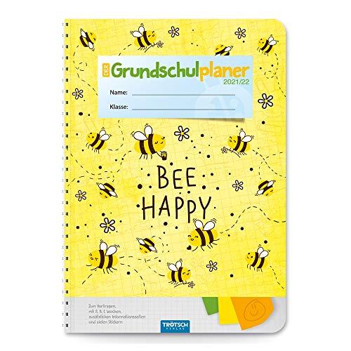 Trötsch Grundschulplaner Happy 2021/2022: Planer Schülerkalender Hausaufgabenheft Timer für die Grundschule: Schülerkalender, Timer, Terminkalender, Hausaufgabenheft