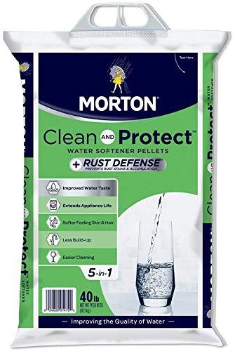 Morton Salt Morton F124700000g Clean & Protect/Rust Defense Water Softener Pellets, 40 Lb, Plain (40 Lb 3 Pack, Plain)