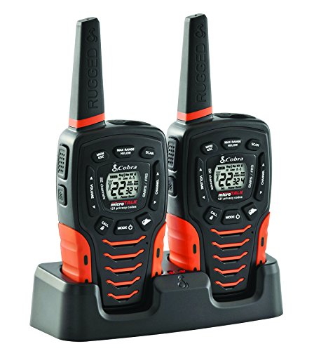 COBRA ACXT645 Walkie Talkies - Water Resistant, Rechargeable Long Range 35-Mile Two Way Radios with VOX & ( 2 Pack )