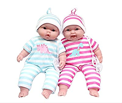 Lots to Cuddle Babies, 13-Inch Baby Soft Doll Soft Body Twins, Designed by Berenguer