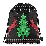 Árbol de Navidad feo con ciervos con cordón, ligero, gimnasio, deporte, bapa para viajes, playa, yoga
