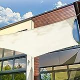 HAIKUS Toldo Vela Cuadrado 2x2 m, Vela de Sombra PES, Impermeable, Resistente y 95% Protección Rayos UV para Exterior, Jardín, Terrazas (Crema)