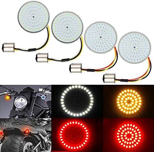4PCS LED Turn Signal Light Kit for Harley 1157 Base LED SMD Front Rear 2 Inch Turn Signal Lights product image