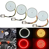 4PCS LED Turn Signal Light Kit for Harley 1157 Base LED SMD Front Rear 2 Inch Turn Signal Lights Bulb, Compatible with Harley Davidson Dyna Touring Sportster Softail Street Glide Road King 1986-2020