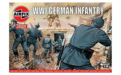 Airfix A00726V 1/76 Deutsche Infanterie Figuren WWI German Infantry,Vintage Classics, grau