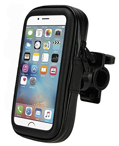 VAPIAO Fahrradhalterung Motorrad Lenkrad Halter Bike Holder wasserdicht wasserfest Tasche Shale Hülle kompatibel für Smartphones Navigationssysteme iPhone Samsung LG HTC Sony Nokia - Größe XL