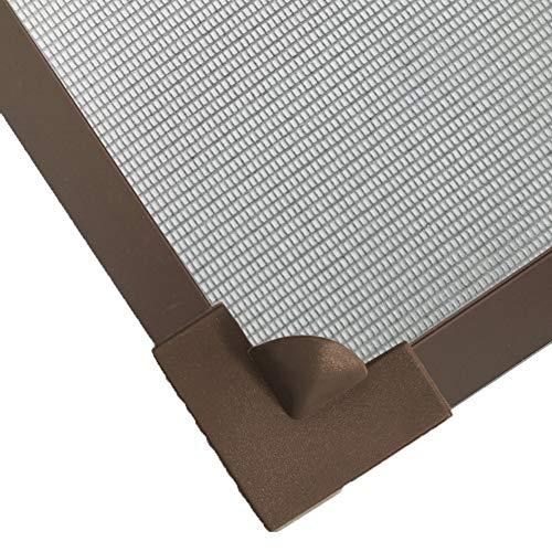XGXQBS Pantalla De Ventana Magnética Ajustable, Bricolaje Mismo-Adhesivo Cortina De Malla Netting Movible Lavable Anti Mosquito Window Mosquito Net-Brown Frame Gray Net 150x200cm(59x79inch)