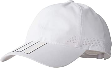 adidas Six-Panel Classic 3-Stripes Hat Climacool Cap, One Size Fits Most, White
