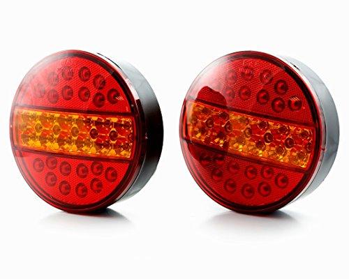 2x 24V LED RY Hamburger Stop achterlichten chassis vrachtwagen aanhanger vrachtwagen caravan Kipper