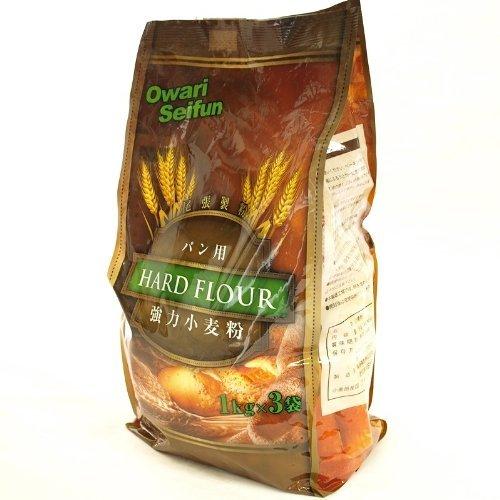 尾張製粉 強力小麦粉 最高級 1 等粉使用 1kg×3袋