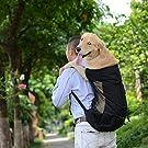 Fashionwu 犬 猫用ペットキャリー ケース 軽い 人気ペット鞄 キャリーバッグ リュック おしゃれ リュック中型犬 携帯しやすい 防水 軽い 便利 多機能 お小物入れ トレーニング用 アウトドア 旅行 お出かけ便利 2WAY 折りたたみ ペット訓練バック ブラック XL