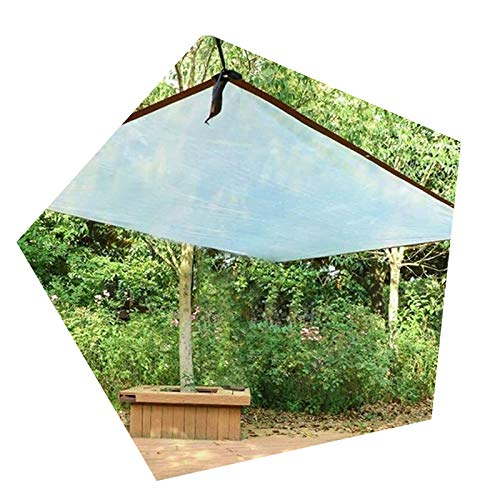 Glass Clear Tarpaulin Tarpaulin Transparent Tarp Plastic Rainproof Cloth Clear Waterproof Sheeting With Grommets | Lightweight, 120 G/M² (Color : Clear, Size : 2x10m)