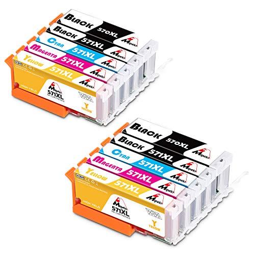 Mipelo Compatible Canon 570XL 571XL PGI-570 CLI-571 Cartucce d'inchiostro per Canon Pixma MG5750 MG6850 TS5050 TS6050 MG5751 MG6851 TS6051 TS5051 (2 Grande Nero/Piccolo Nero/Ciano/Magenta/Giallo)
