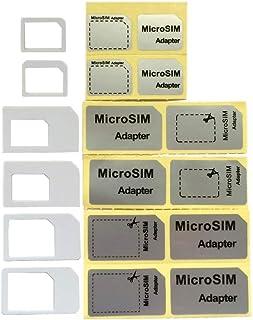 白【純正iPhone5s 5c 5】ドコモ〓foma対応 nano SIM micro sim変換アダプタ 3点セット For iPhone 5 4S 4 nano sim→SIMカード or Nano sim→micro sim +Micro...