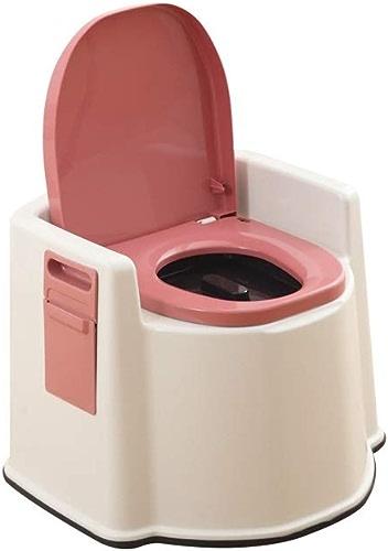 Xinqing Toilette Mobile en Plastique épais, antidérapante, Pratique, Facile à Transporter, adaptée aux Patients, handicapés, Personnes agées. (Couleur   rose)