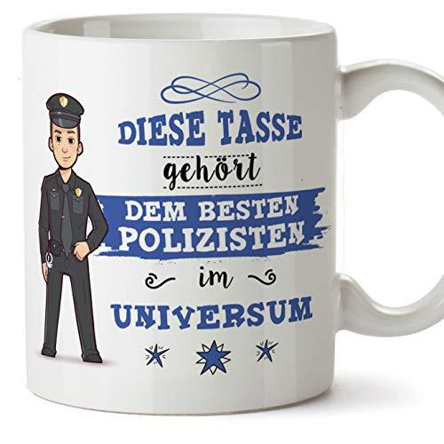 Polizisten Tasse/Becher/Mug Geschenk Schöne and lustige kaffetasse - Diese Tasse gehört dem besten Polizist im Universum - Keramik 350 ml