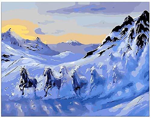 Jkykpp DIY schilderij op cijfers digitaal canvas olieschilderij geschenk volwassenen Kids Kits Decoraciones para EL hogar Vogel op de boom