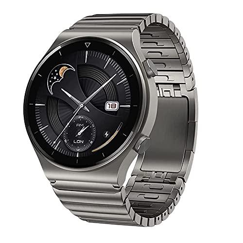 VeveXiao Correa compatible con Huawei Watch GT 46mm/GT2 Pro/GT2 46mm/Porsche, 22mm Correa de repuesto de acero inoxidable para Samsung Galaxy Watch 46mm/Galaxy Watch 3 45mm/Gear S3 Band (gris titanio)