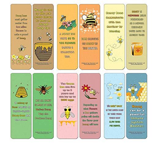Creanoso Honing en Bee Bookmarks (30-pack) - diverse ontwerpen voor Kinderen - Classroom Beloning Incentives for Students - kleinigheidjes Party Favors & Giveaways voor tieners en volwassenen