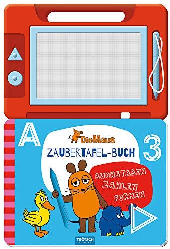Trötsch Die Maus Zaubertafelbuch: Beschäftigungsbuch Malbuch Übungsbuch