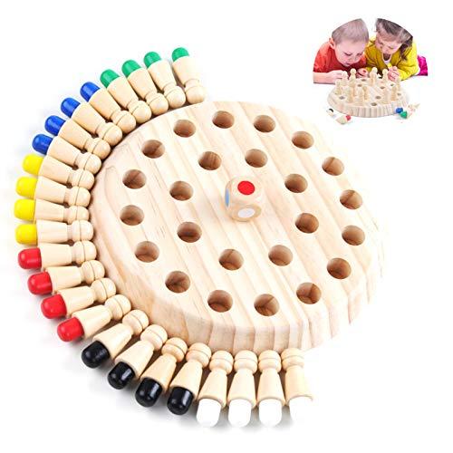 Kinder hölzernes gedächtnis-Schach,Schachbrett Spielzeug,Memory Match Stick Schach,Memory Schach Holz,schachspiel lernspielzeug,gedächtnisschach,Spielzeug für die intellektuelle Entwicklung (A)