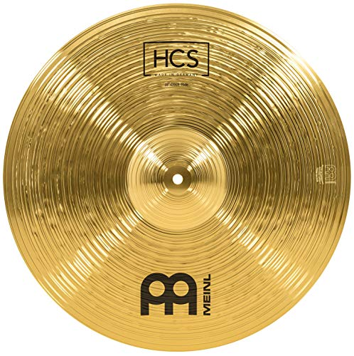 Meinl Cymbals HCS Crash-Ride Becken 18 Zoll für Schlagzeug – Messing, traditionelles Finish, HCS18CR