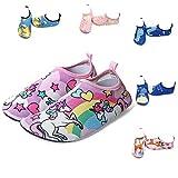 LYworld Chaussures de Plage Enfant Chaussures d'eau Enfant Bébé ChaussuresFilles Garcon Chaussures Aquatiques Chausson pour Piscine et Plage (22/23 EU, Licorne)