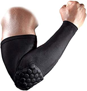 Lu&lu Men/Women/Youth Protective Elbow Pad Compression Padded Arm Sleeves Crashproof For Basketball, Football Outdoor Sports