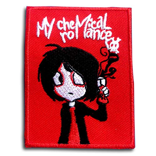 Verani My Chemical Romance Embroidered Iron-on Patch Applique Skull on The Black Maltese Iron Cross Harley Rider Biker Punk Heavy Metal Hard Rock Tatto Embroidered Iron On Badge Emblem Letter Morale