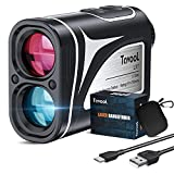 Golf Rangefinders - Laser Range finder High Accuracy Slope On/Off USB Charging 6X Magnification Flag Lock Pulse Vibration Distance Angle Measure Continuous Scan for Golfing Tournament Hunting Shooting