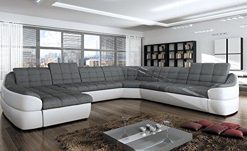Wohnideebilder Sofa Couchgarnitur Infinity XL mit Schlaffunktion und Bettkasten im modernem Design, abgesetzte Nähte, präzise verarbeitet.