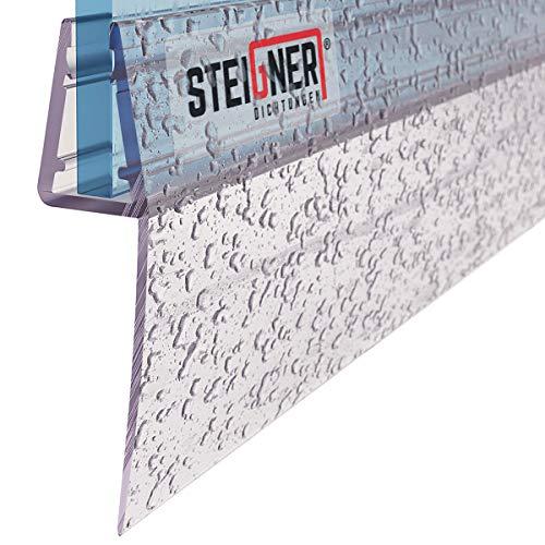 STEIGNER Duschdichtung, 200cm, Glasstärke 6/7/ 8 mm, Gerade PVC Ersatzdichtung für Dusche, UK05