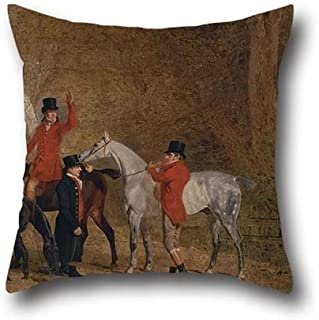 elegancebeauty 18 X 18 Inches / 45 by 45 cm Oil Painting Benjamin Marshall - Foxhunting Scene Throw Pillow Case,2 Sides Ornament and Gift to Bench,Festival,Chair,Bedroom,Teens,Kids Girls