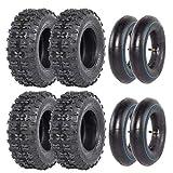 ZXTDR Set of Four 13x5.00-6 Tires and Inner Tubes for Go Kart ATV Scooter Quad 4 Wheelers