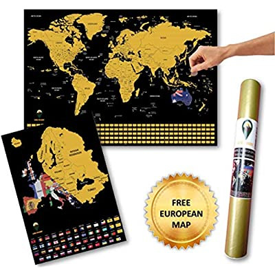 Deluxe Travel Size Map Global Walkabout Scratch Off Map with Flags background