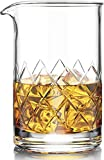 MOFADO Premium Cocktail Mixing Glass - 18oz 550ml - Thick Weighted Bottom - Seamless Crystal Design