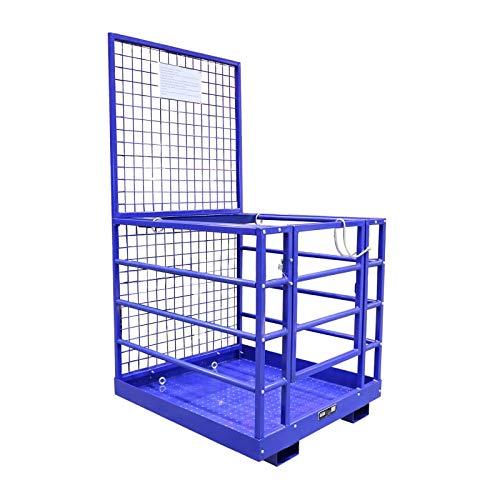 Staplerbühne Sicherheitskorb Arbeitskorb Stapler   250 kg Traglast   1150 mm x 1080 mm Größe   mit Werkzeugablage