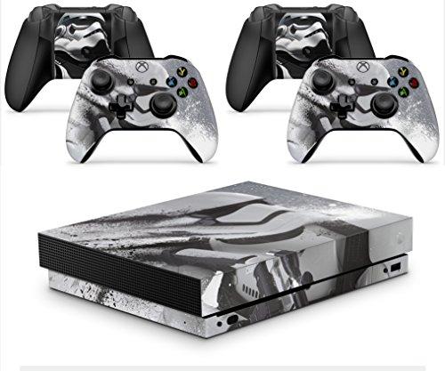 giZmoZ n gadgetZ GNG Xbox ONE X Konsolen-Gehäuseaufkleber, Motiv: Stormtrooper inklusive 2er-Set mit Aufklebern für Controller