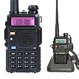 Mengshen Walkie Talkie UV-5R Radio Portátil (Doble Banda, FM, Codificación DTMF, Códigos de Privacidad CTCSS), Negro
