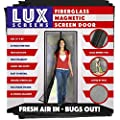 Magnetic Screen Door New 2018 Patent Pending Design Full Frame Velcro & Fiberglass Mesh Not Polyester This Instant Retractable Bug Screen Opens and Closes like Magic