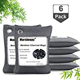 Marsheepy 2020 Upgraded Bamboo Charcoal Air Purifying Bags, Activated Charcoal Bags, Charcoal Odor Absorber, Odor Eliminators for Home, Pets, Car, Closet (200g X 6 Pack)