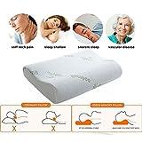 Memory Foam Kopfkissen, Orthopädisches Nackenstützkissen für Seiten- und Rückenschläfer, Visco Schlafkissen mit Bambus Bezug, Ergonomisches Nackenkissen für HWS - 6