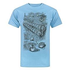 Minecraft Camiseta Manga Corta Azul para Hombres