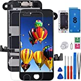 for iPhone 8 Screen Replacement Full Assembly FOOBONG 3D Touch LCD Display Digitizer Pre-Assembled Front Camera Proximity Sensor Earpiece, with All Repair Tools and Screen Protector 4.7inch Black