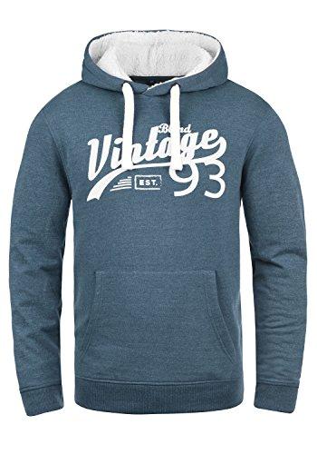 Blend Vince Teddy Herren Kapuzenpullover Hoodie Sweatshirt Mit Teddy-Futter Meliert, Größe:XXL, Farbe:Ensign Blue Teddy (74654)