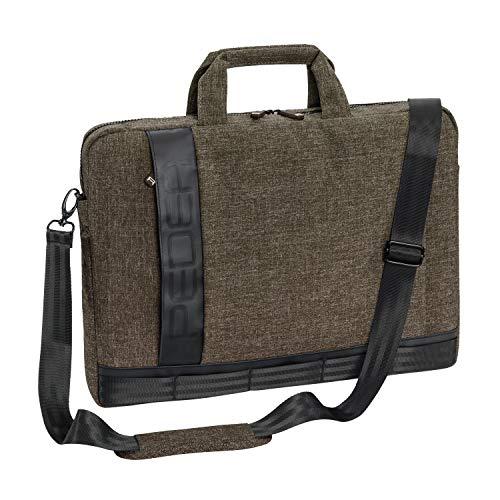 Pedea Laptoptasche Fancy Notebook-Tasche bis 17,3 Zoll (43,9 cm) Umhängetasche mit Schultergurt, beige